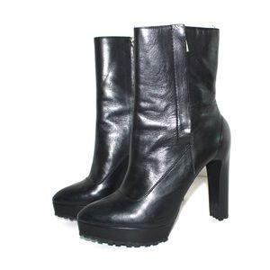 Zara Leather High Heel Boot